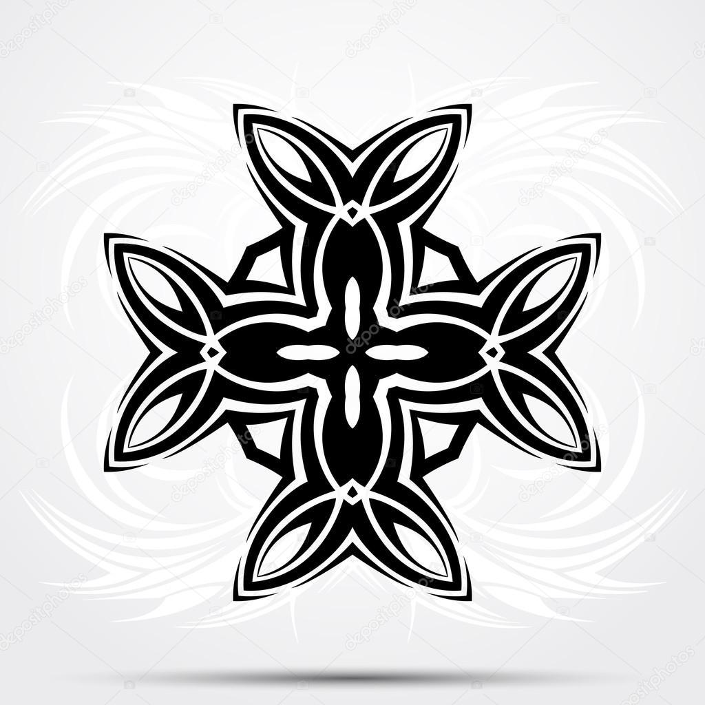 Streszczenie Tribal Tatuaż Krzyż Celtycki Grafika