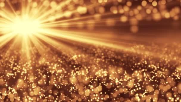 Bezešvé pozadí zlatých částic