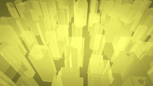 Architectural blueprint of contemporary buildings, orange tint