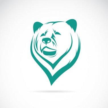 Vector image of an bear head