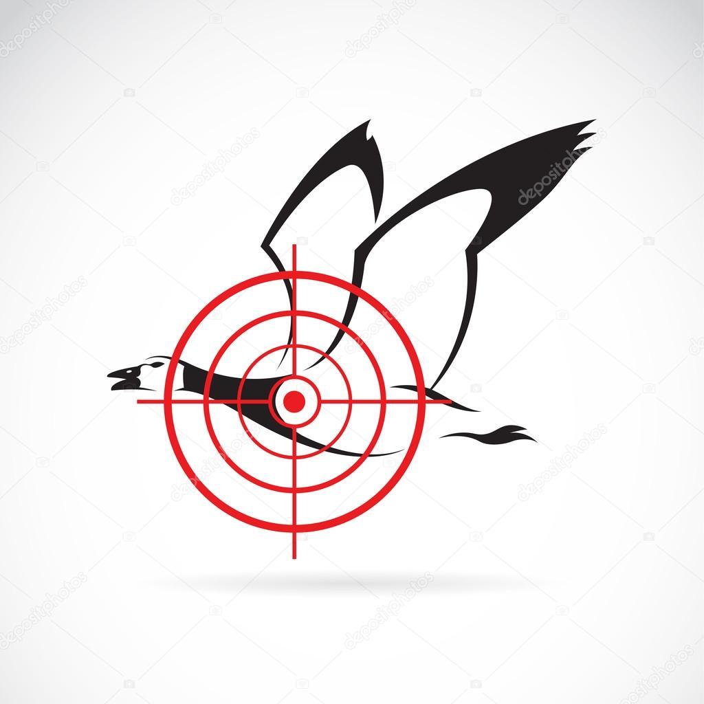 Vector image of a wild duck target