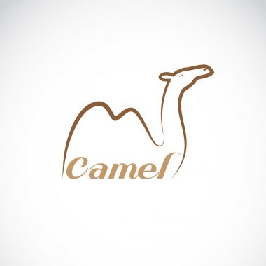 Vector image of an camel design