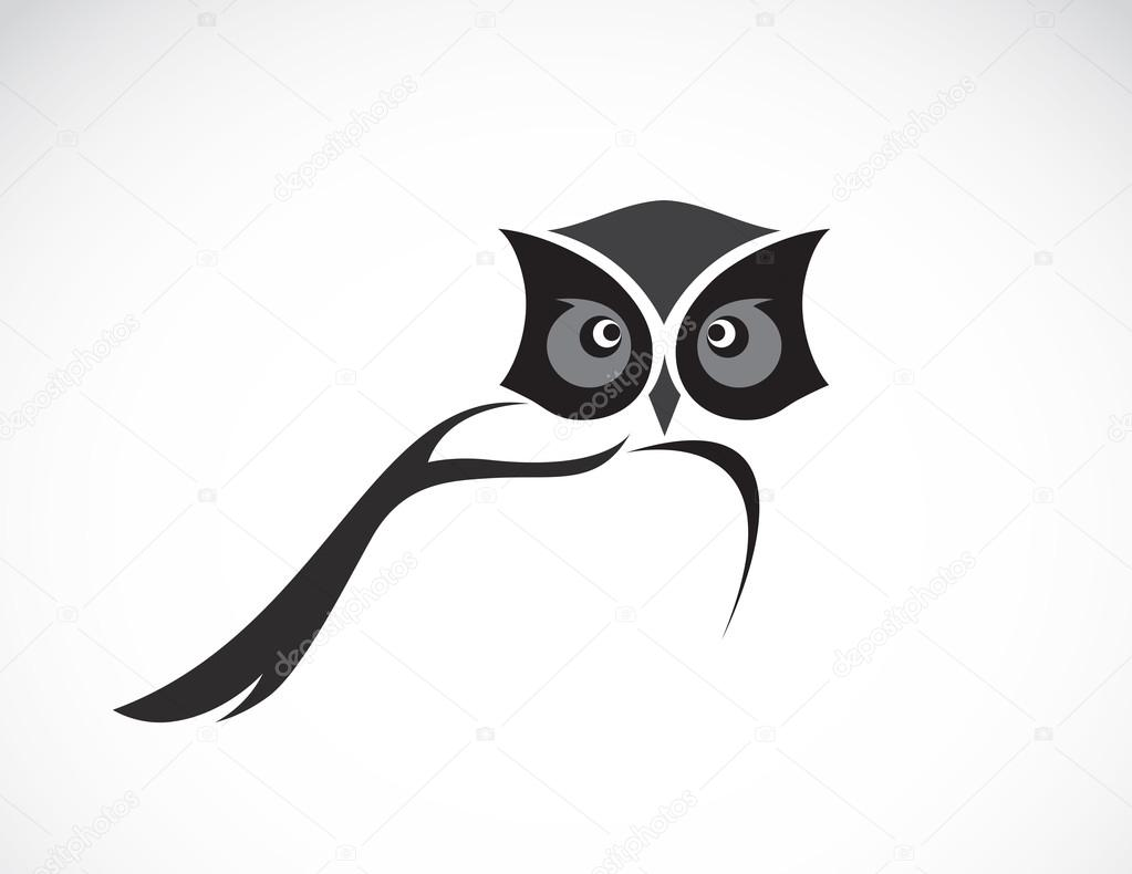 Vector image of an owl design on white background