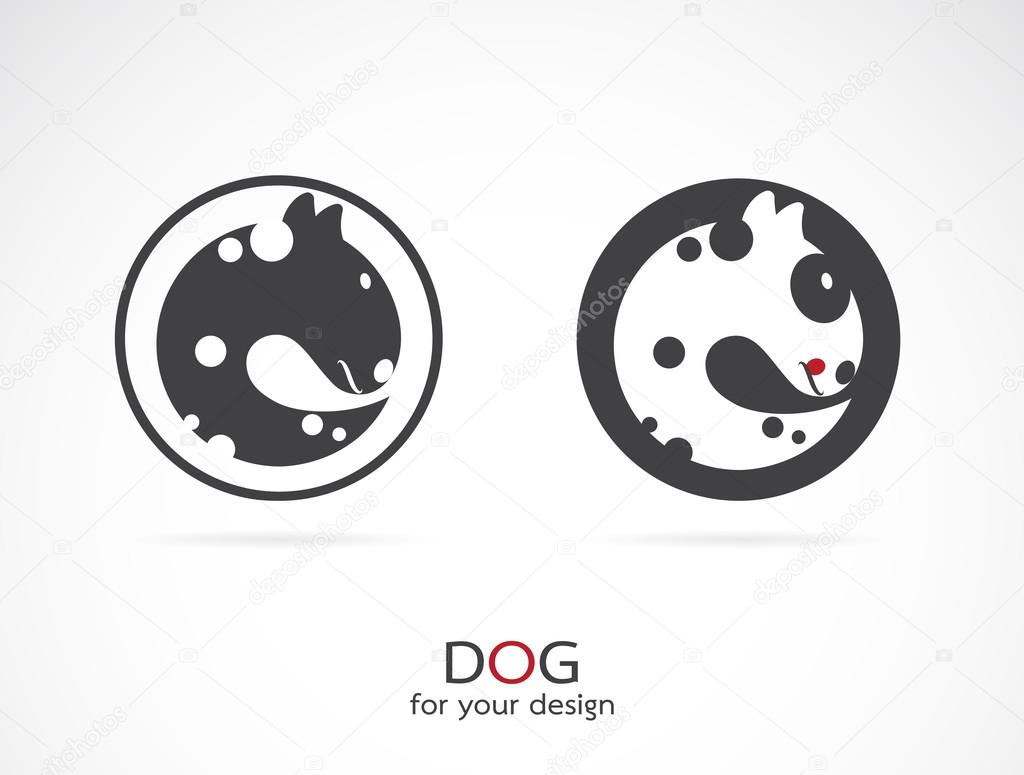 Vector image of an dog design on white background