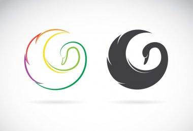 Vector images of swan design
