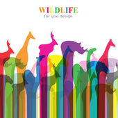 Vector image of an animal groups. Wildlife