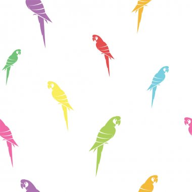 Parrot vector art background design for fabric and decor. Seamle