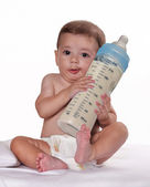 Fotografie Milky baby bottle