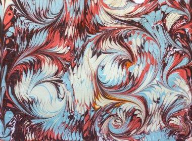 waves and tile pattern ebru
