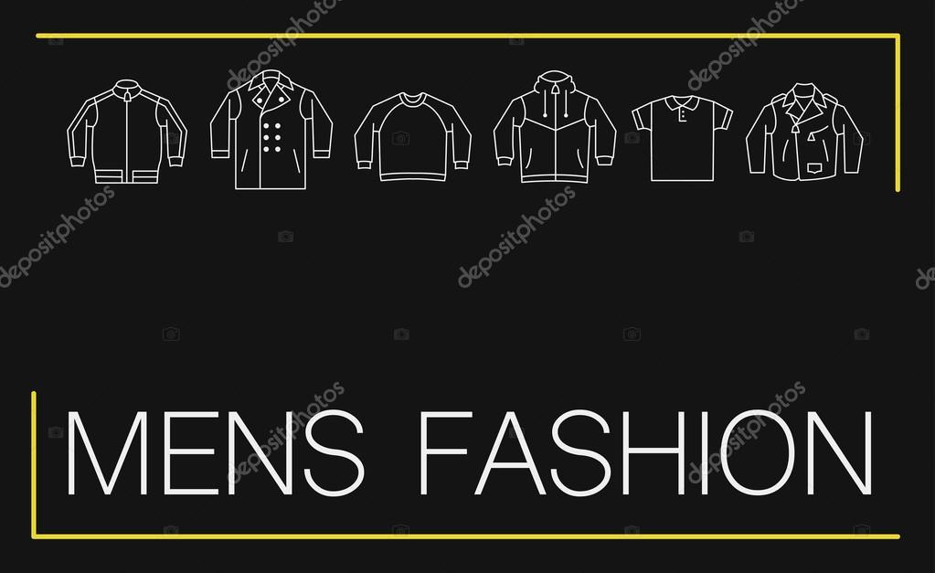 Herren Mode Visitenkarten Design Stockvektor Flamestar