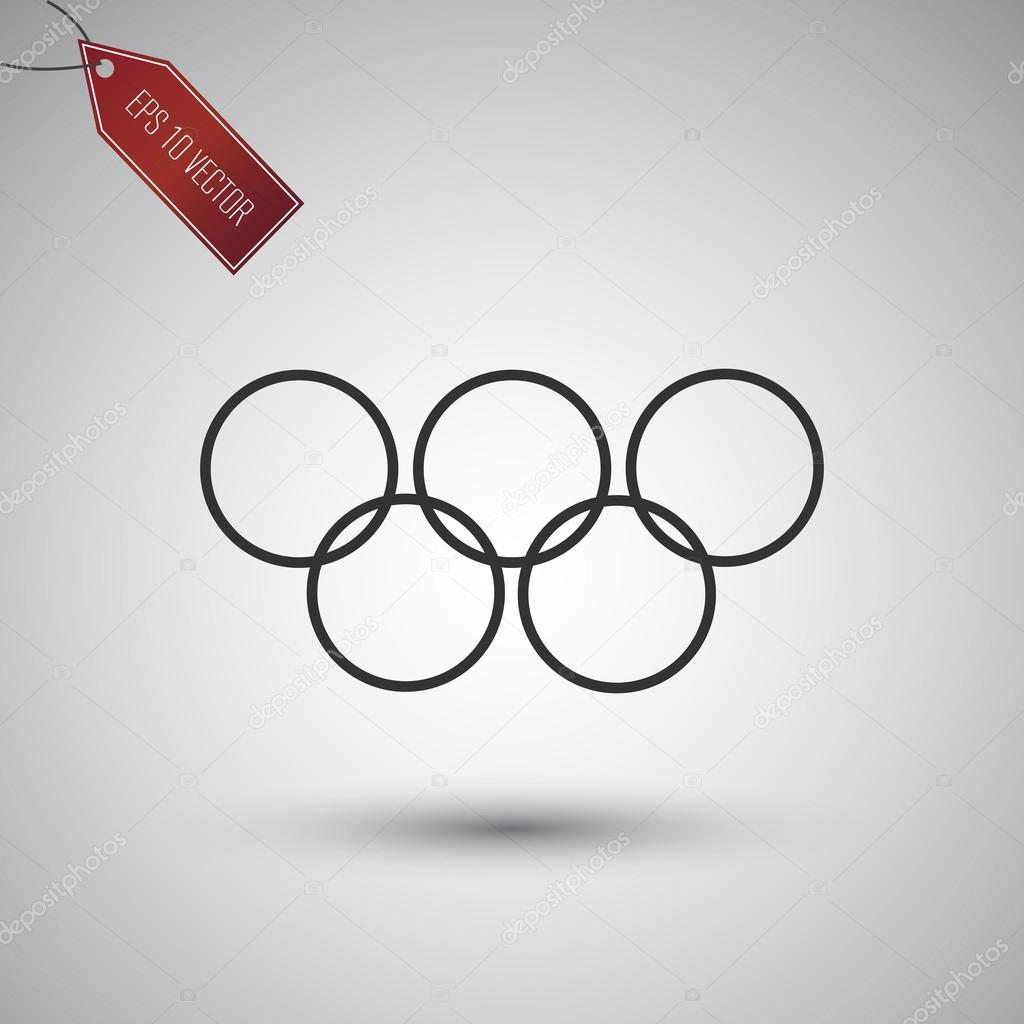 Olympic games icon on the gray background.
