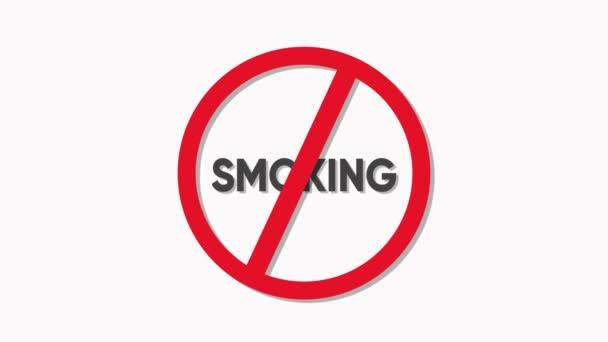 Kein Rauchwarnschild auf weißem Grund