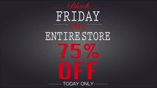 Black Friday 75 procent prodej animovaný banner