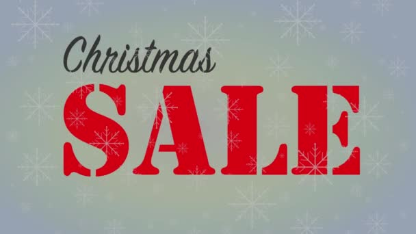 Christmas sale banner with blue snowflakes animated