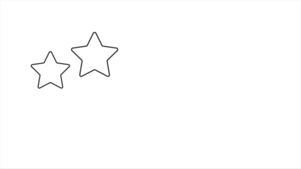 Five star rate with thumbs up isolated on white. Motion graphic
