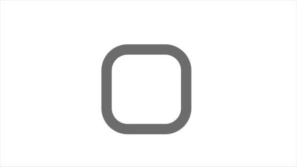 Animace symbolu zaškrtávacího políčka v pohyblivé grafice. Symbolizace vpravo.
