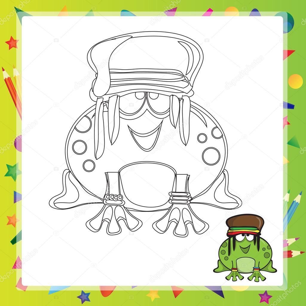 Illustration der Cartoon-Frosch — Stockvektor © Brill #110343644