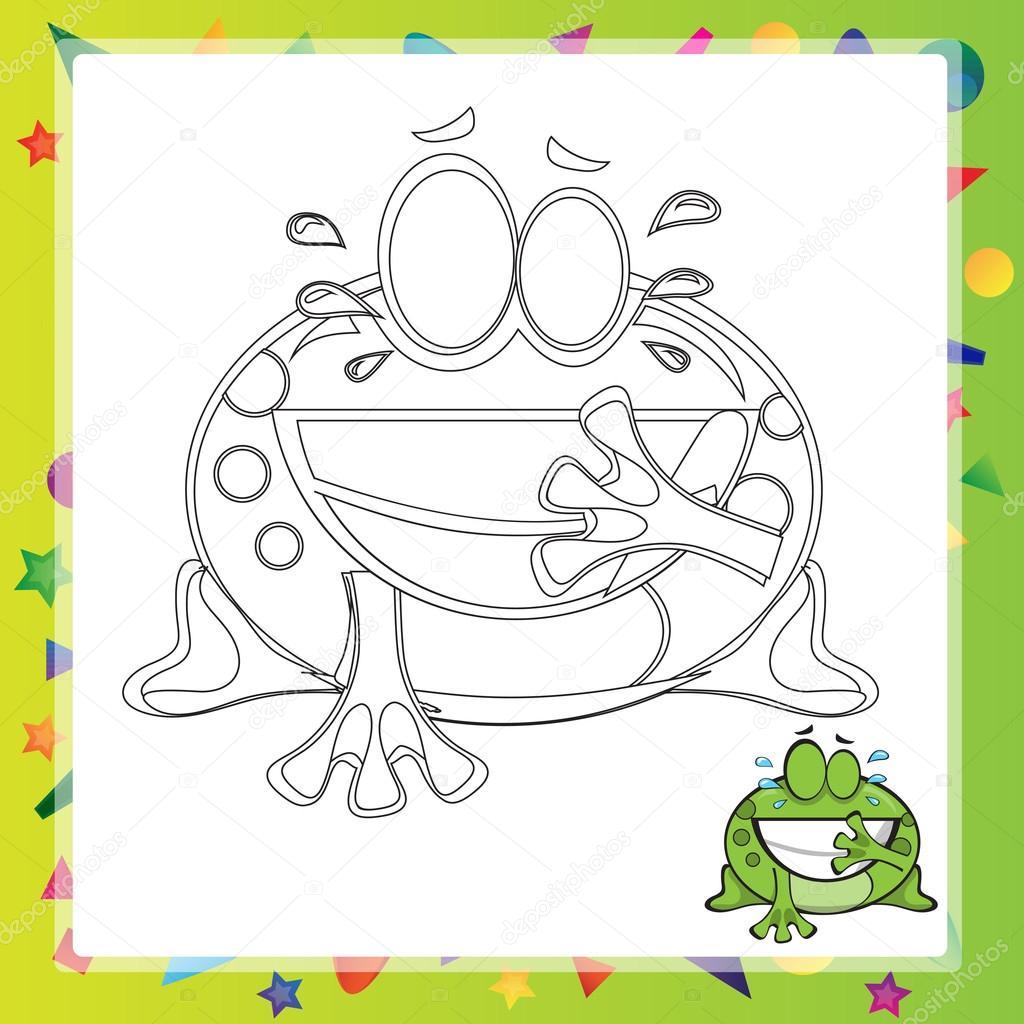 Illustration der Cartoon-Frosch — Stockvektor © Brill #110343868