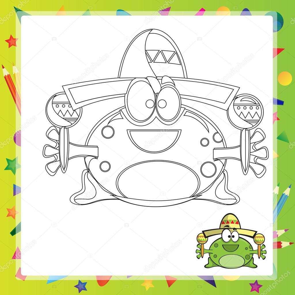 Illustration der Cartoon-Frosch — Stockvektor © Brill #110379160