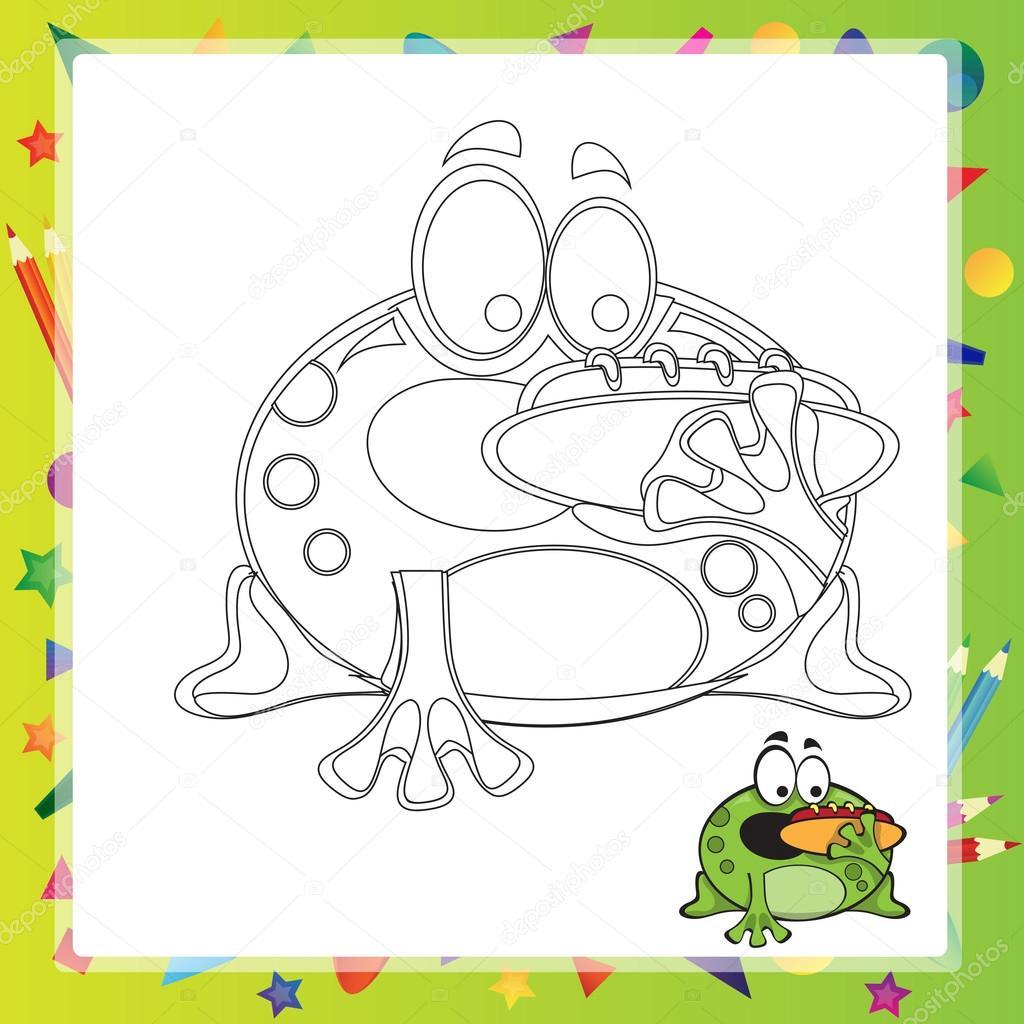 Illustration der Cartoon-Frosch — Stockvektor © Brill #110379220