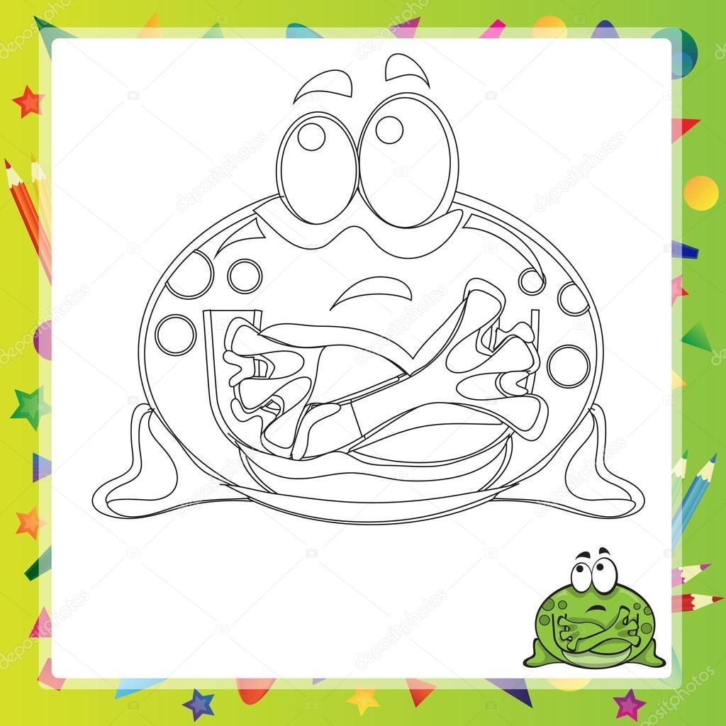 Illustration der Cartoon-Frosch — Stockvektor © Brill #110379536