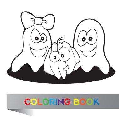 Coloring book Halloween