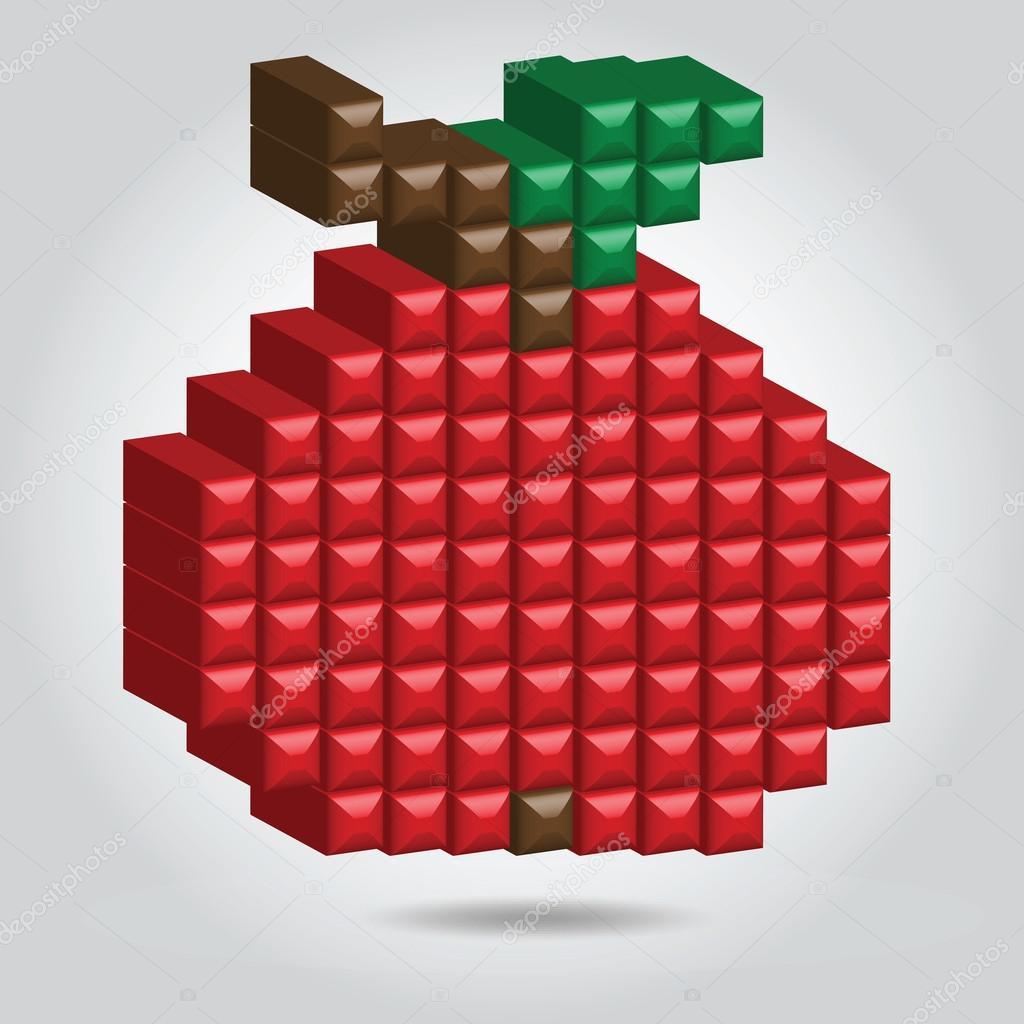 Apple in Pixel Style