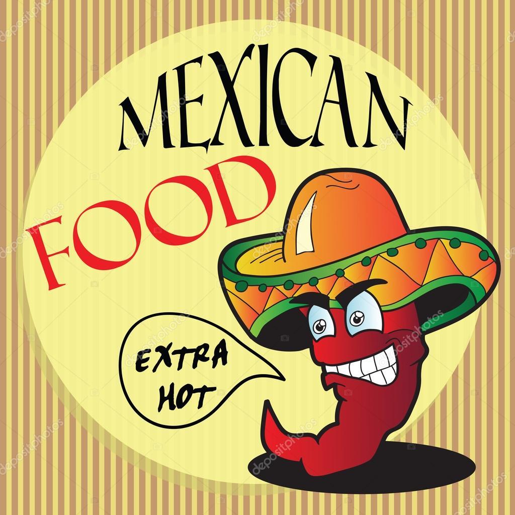 Personaje de dibujos animados de pimienta mexicana - ilustración vectorial  — Vector de Brill afd8217c1d2