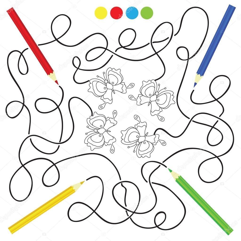 Pagina De La Actividad Para Colorear Y Juegos De Laberinto Para