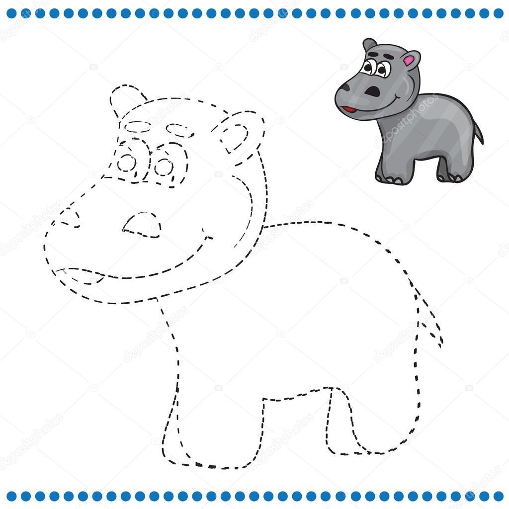 Conectar los puntos y página para colorear — Archivo Imágenes ...