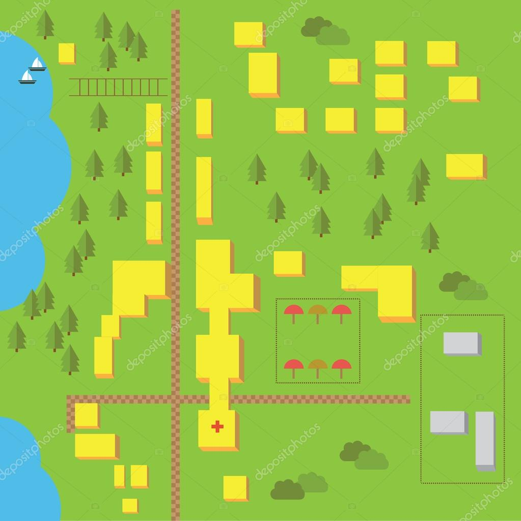 Vector elements for easy creating maps