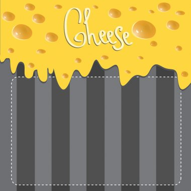 Vector Cheese brochure on background made of stripes