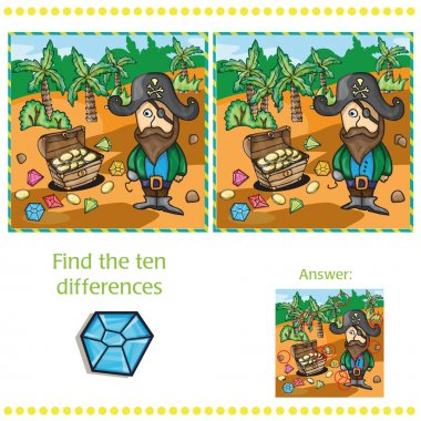 Game for children - find ten differences