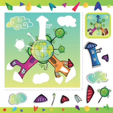 Cartoon city - puzzle