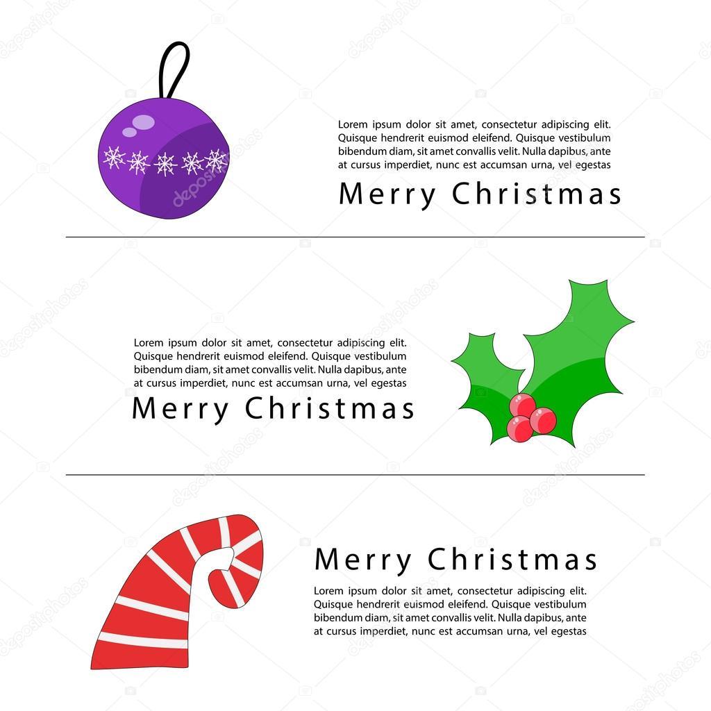 christmas banners or catalog page template stock vector natalia