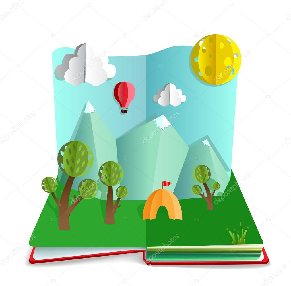 Paper book pop up
