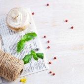 Fotografie Čerstvé houby a byliny