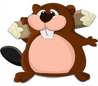 Cute cartoon beaver