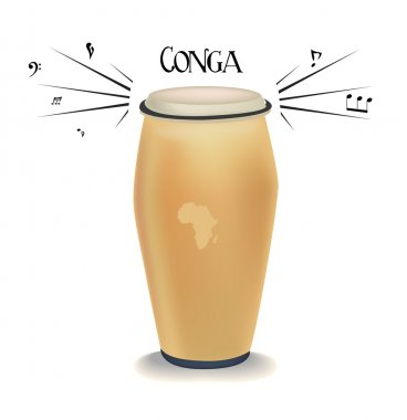 Conga. vector illustration