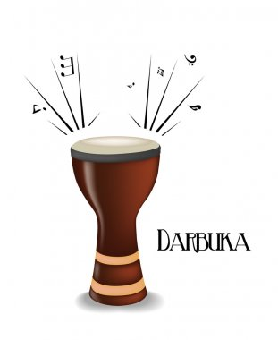 Darbuka. Vector illustration