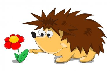 Unusual cartoon hedgehog