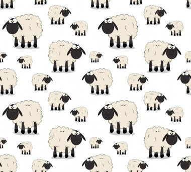 Nice set of vector cartoon sheep