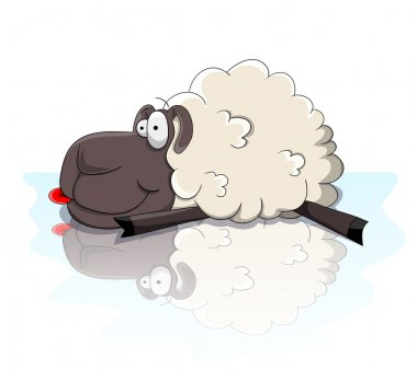 Nice cartoon sheep