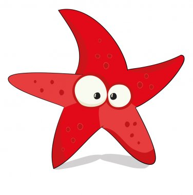 Nice cartoon sea star