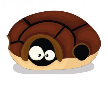 Cute cartoon vector turtle