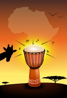 African drum illustration