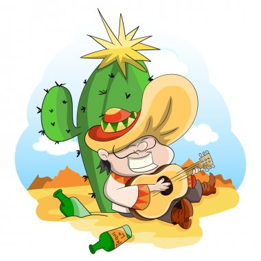 Cartoon vector mexican