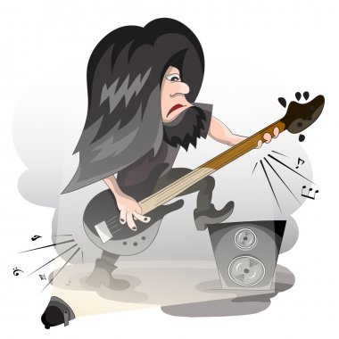 Cartoon vector guitar player