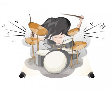 Rock music man drummer