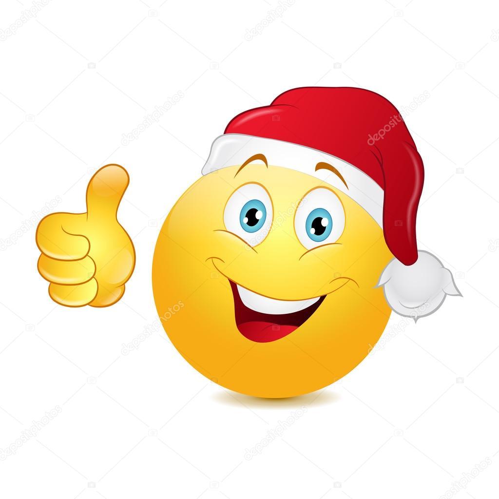 Weihnachten Emoticon mit Daumen — Stockvektor © Jonatan08 #56450905